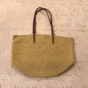 J. Crew straw bag